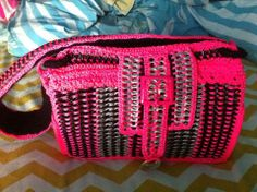 Pop top & neon nylon purse - made by Jeri Sylvia of Slender-Threads.com