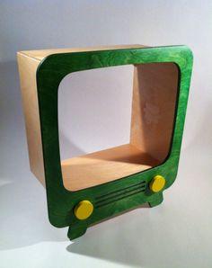 Wood retro tv