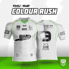 EMU Sportswear Kitbuilder allows any team to choose their items & customise them to suit their teams colours & style. Color Rush, Team Wear, Rugby League, Team Logo, Activewear, Jersey Designs, Nfl, Sportswear, Marketing