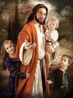 Jesus with children art