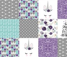 Designer Minky Fabric ROTATED Dream Big Little Girl 7.8 oz- Fabric by the Yard Wholecloth Cheater Quilt Fabric