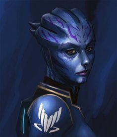 Mass Effect,фэндомы,Игры,спектр,Тела Вазир,азари,арт,красивые картинки,ME art,Tela Vasir