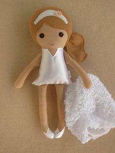 Reserved for Lidia Fabric Doll Rag Doll Light от rovingovine