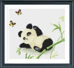Baby Panda Cross Stitch Pattern Instant Download by AprilBeeShop