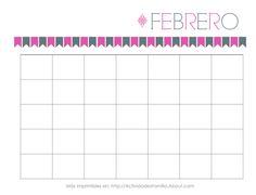 Calendarios Personalizables: Calendario de Febrero