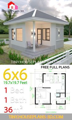 House Design with 2 bedrooms - House Plans can find Small house and more on our website.House Design with 2 bedrooms - House Plans Simple House Plans, Simple House Design, Tiny House Design, 2 Bedroom House Plans, Dream House Plans, House Floor Plans, House Layout Plans, House Layouts, The Plan