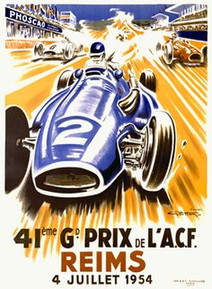 Love vintage car posters. One of my faves...