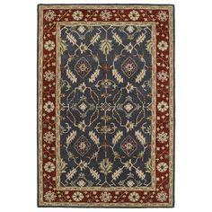 Kaleen Rugs Hand-Tufted Perry Charcoal Global Rug