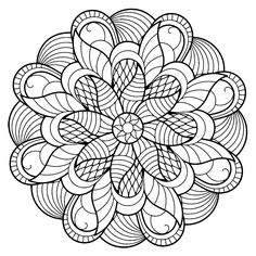 Coloring Pages for Adults Mandala. 30 Coloring Pages for Adults Mandala. Coloring Pages Mandala From Free Coloring Books for Adults Flower Coloring Pages, Mandala Coloring Pages, Coloring Pages To Print, Coloring Book Pages, Coloring Pages For Kids, Geometric Coloring Pages, Mandalas Painting, Mandalas Drawing, Zentangles