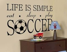 World Cup Soccer Personalized Name Bedroom Nursery Vinyl Wall Decal Art in Baby, Home & Garden | eBay