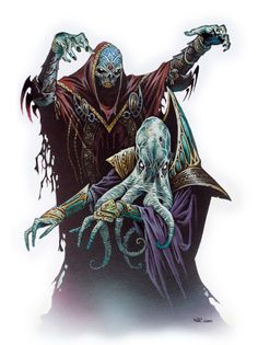 Liches (I'm sorry, but a mind flayer is a effin squid, squid are pretty boneless, liches are SKELETAL remains! it don't make sense!)