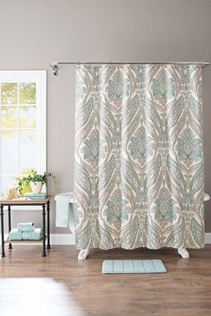 Better Homes And Gardens Damask Aqua Paisley 13 Piece Bath Set Shower Curtain