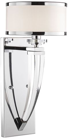 Maxim Metro Chrome with White Shade Wall Sconce - #EUW4999 - Euro Style Lighting