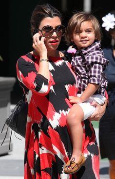 Mini-tonka fan Mason Disick sporting his Minnetonka Thunderbird mocs when out & about with his stylish mom Kourtney Kardashian