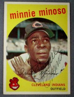 ... TOPPS SIGNED BASEBALL CARD #80 Minnie Minoso, Cleveland Indians #1
