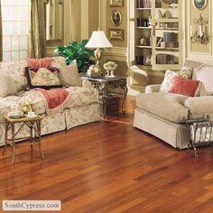 "Mullican Flooring: Exotic 3.25"" Solid - Brazilian Cherry Natural Hardwood"