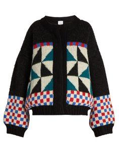 Lasciare geometric-intarsia cardigan  | Stella Jean | MATCHESFASHION.COM UK