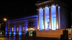 Perth Museum and Art Gallery lit up to launch Perth 800, since granted the Royal Burgh Charter by King William the Lion in 1210 photo courtesy of Perth and Kinross Council