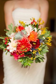 Beautiful flowers by Growing Wild Floral Co.  Wedding flowers