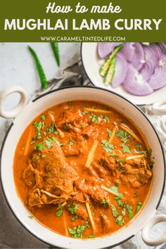 Mughlai lamb curry is a delicious lamb curry that originates from the royal kitchens of India. Make it with ease in the Instant Pot. 3instapot #lamb #curry #indian #recipe #easy Easy Recipes For Beginners, Easy Meat Recipes, Lunch Recipes, Vegetarian Recipes, Easy Meals, Healthy Recipes, Best Instant Pot Recipe, Instant Pot Dinner Recipes, Pressure Cooking Recipes