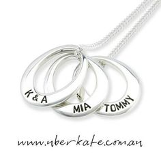 Add to your collection of Uberovals as you add to your family and you will have a necklace to treasure for a lifetime and by generations to come. https://www.uberkate.com.au/products.php?category=Necklaces&subcategory=Uberovals