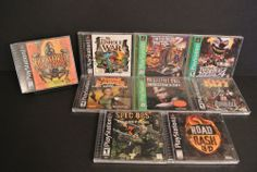 Lot of 9 Games PS1:  Oddworld Abe's Exoddus, The Unholy War, Twisted Metal 2, 4