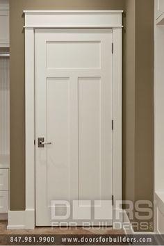 Want a craftsman style house! Craftsman Style Custom Interior Wood Doors Custom Wood Interior Doors - from Doors For Builders, Inc. Craftsman Interior Doors, Craftsman Style Interiors, Craftsman Door, Craftsman Style Homes, Craftsman Bungalows, Interior Trim, Home Interior, Interior Door Styles, Craftsman Exterior