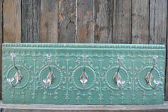 Antique Tin Ceiling Tile Hook Rack Coat Rack by BigSkyVintageDecor, $145.00