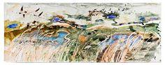 Artist: John Wolseley A Natural History of Swamps I, Great Reed Warbler - Camargue Contemporary Australian Artists, Australian Painting, Museum Of Contemporary Art, Abstract Landscape, Landscape Paintings, Landscapes, Environmental Art, Aboriginal Art, City Art