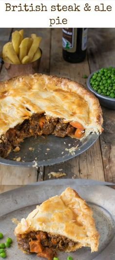 Steak and ale pie is a British classic found at most pubs around England. - Steak and ale pie is a British classic found at most pubs around England. Serve it with pea and chi - Steak Ale Pie, Steak And Ale, Beef And Ale Pie, Steak And Chips, Steak And Guinness Pie, Scottish Recipes, Irish Recipes, English Food Recipes, British Food Recipes