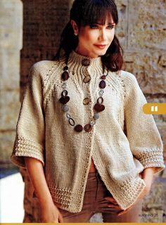 casaco trabalhado em lã