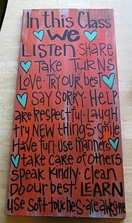 Class Rules..  I want to make one of these this summer