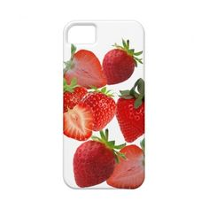 Strawberries and cream iPhone 5 case from Zazzle.com ($44) via Polyvore