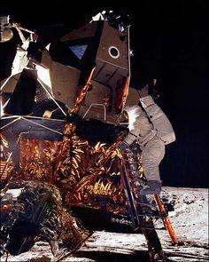 Apollo 12 Alan Bean on Lunar Module Ladder Photo Print for Sale
