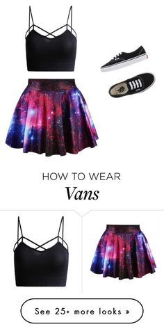 Galaxy by j7nelleezsb on Polyvore featuring Vans