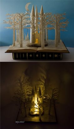 Fairytale Castle Book Sculpture Book Art by MalenaValcarcel