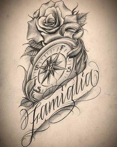 Family Tattoo Designs, Star Tattoo Designs, Family Tattoos, Stencils Tatuagem, Tattoo Stencils, Tattoo Lettering Fonts, Tattoo Script, Tiger Tattoo Sleeve, Sleeve Tattoos