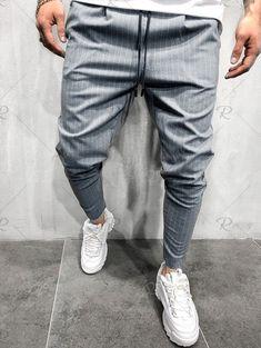 rosegal Dress Trousers, Suit Pants, Sports Trousers, Punjabi Suits, Stripe Print, Drawstring Waist, Parachute Pants, Street Wear, Mens Fashion