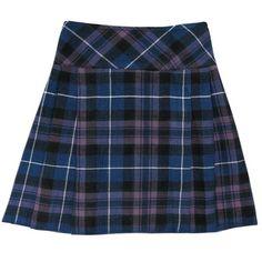 """Honour Of Scotland Scottish Highland Purple Plaid 20"""" Kilt Skirt US4... (€27) ❤ liked on Polyvore featuring skirts, blue plaid skirt, blue tartan skirt, plaid skirt, tartan skirt and honour"""