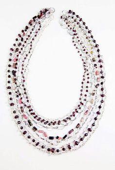 Orlov Jewellery-Multiline semiprecious stones Beaded Necklace, Stones, Jewellery, Chain, Collection, Beaded Collar, Rocks, Jewelery, Pearl Necklace