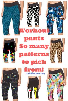 Workout pants that are fun to wear and show your style, so many cute ones to pick from
