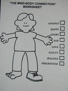 """mind-body"" feelings worksheet"