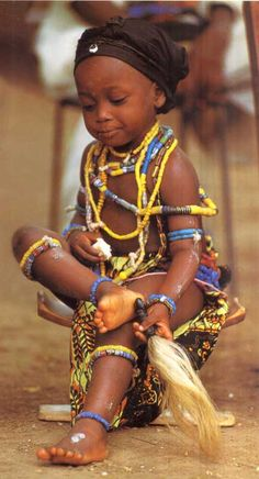 Africa | A young Krobo child, Ghana