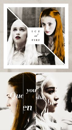 Daenerys Targaryen & Sansa Stark ~ Game of Thrones Fan Art