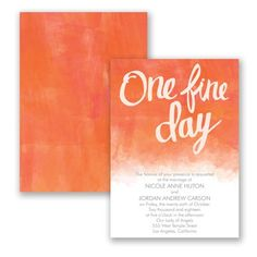 One Fine Day Wedding Invitation by David's Bridal #weddings #weddinginvitation #davidsbridal