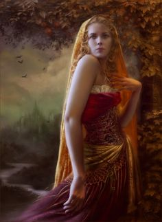 Áine is a Tuata Dé Danann, an Irish goddess of summer, wealth and sovereignty. She is associated with midsummer and the sun, and is sometimes represented by a red mare. She is the daughter of Egobail, the sister of Aillen and/or Fennen, and is claimed as an ancestor by multiple Irish families. As the goddess of love and fertility, she had command over crops and animals and is also associated with agriculture