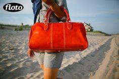 Venezia Mini leather bag in Orange
