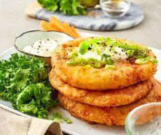Sajtos palacsinta maradék krumplipüréből Recept képpel - Mindmegette.hu - Receptek Spatzle, Tacos, Mexican, Chicken, Meat, Ethnic Recipes, Food, Gastronomia, Recipes