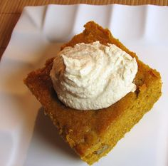 For the Love of Cooking » Pumpkin Spice Cake with Cinnamon Whipped Cream
