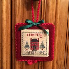 Red House Merry Christmas Cross Stitch